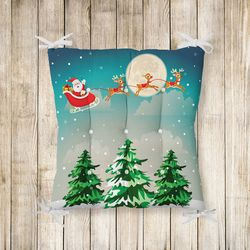 RealHomes Merry Christmass Pofidik Kare Sandalye Minderi 40x40cm Düğmeli