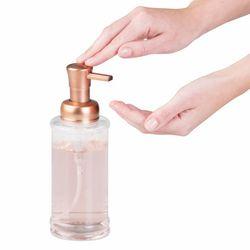 Sıvı Sabunluk Cam Altın Renkli Pompalı