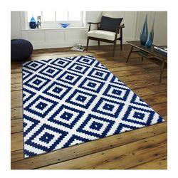 Saray Halı Tuana 012 120x170 cm Mozaik Desen Lacivert Modern Halı