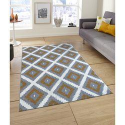 Saray Halı Tuana 012 200x300 cm Mozaik Desen Gold / Gri Modern Halı