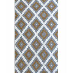 Saray Halı Tuana 012 150x230 cm Mozaik Desen Gold / Gri Modern Halı