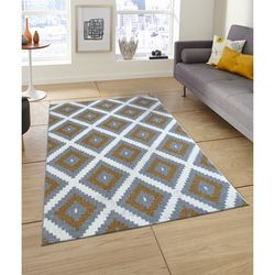 Saray Halı Tuana 012 120x170 cm Mozaik Desen Gold / Gri Modern Halı