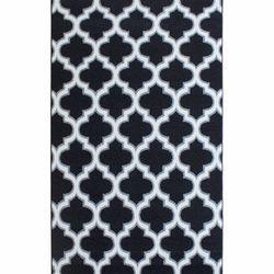 Saray Halı Tuana 031 150x230 cm Karo Desen Siyah / Gri Modern Halı