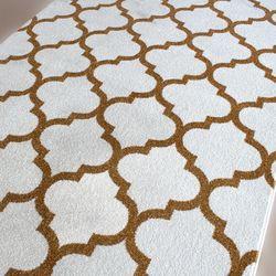 Saray Halı Tuana 032 200x300 cm Karo Desen Gold Modern Halı