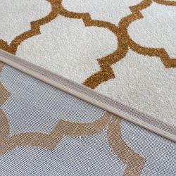 Saray Halı Tuana 032 120x170 cm Karo Desen Gold Modern Halı