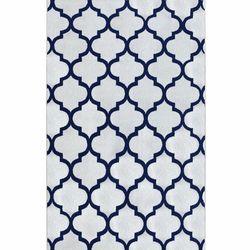 Saray Halı Tuana 032 120x170 cm Karo Desen Lacivert Modern Halı