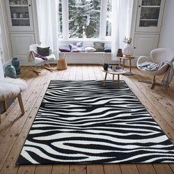 Saray Halı Tuana 033 120x170 cm Zebra Desenli Siyah Modern Halı