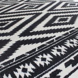 Saray Halı Tuana 034 200x300 cm Etnik Kilim Desenli Siyah Modern Halı