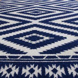 Saray Halı Tuana 034 200x300 cm Etnik Kilim Desenli Lacivert Modern Halı