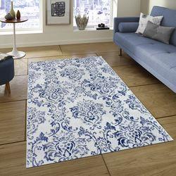 Saray Halı Tuana 035 150x230 cm Sarmaşık Desen Lacivert / Gri Modern Halı