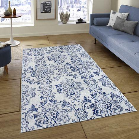 Resim  Saray Halı Tuana 035 150x230 cm Sarmaşık Desen Lacivert / Gri Modern Halı