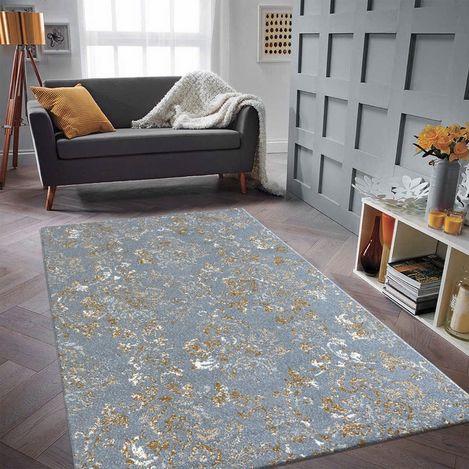 Resim  Saray Halı Tuana 035 120x170 cm Sarmaşık Desen Gold / Gri Modern Halı