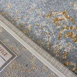 Saray Halı Tuana 035 120x170 cm Sarmaşık Desen Gold / Gri Modern Halı