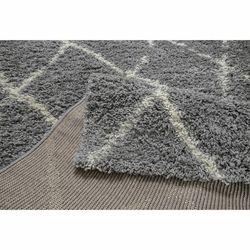 Payidar Gri Krem Çizgili Shaggy Halı G0276M 80x150 cm