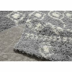 Payidar Gri Krem Shaggy Halı İskandinav G2558M 80x150 cm