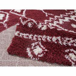 Payidar Kırmızı Krem Shaggy Halı İskandinavG2558M 80x300 cm