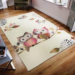 Saray Halı Gazelle OZD39 120x170 cm Baykuş Desen Modern Halı