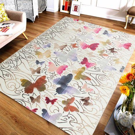 Resim  Saray Halı Gazelle OZD40 150x230 cm Kelebek Desen Modern Halı