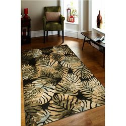 Payidar Lorav HE21NM 200x290 cm Amazon Desen Siyah / Yeşil Modern Halı