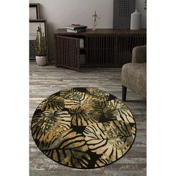 Payidar Lorav HE21NM 160x160 cm Amazon Desen Siyah / Yeşil Modern Halı