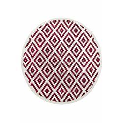 Payidar Vaveyla 1672A 150x150 cm Daire Bordo Resital Desen Modern Halı