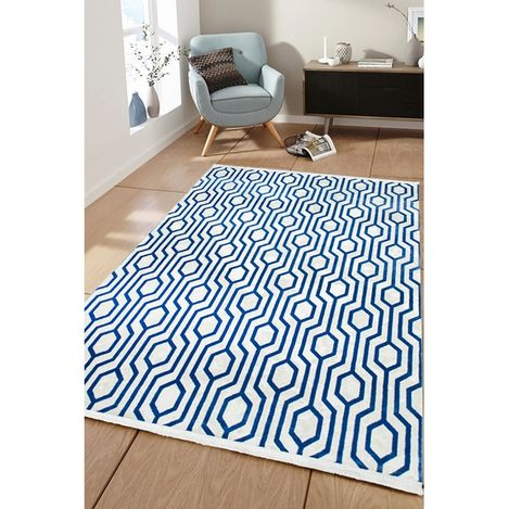 Resim  Payidar Vaveyla 1706A 80x150 cm Mavi Veux Desen Modern Halı