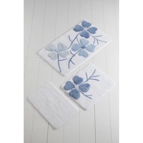 Resim  Chilai Home Kırçiçeği 3'lü Klozet Takımı - Mavi