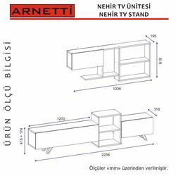 Arnetti Nehir Tv Ünitesi - Beyaz