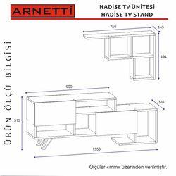 Arnetti Hadise Tv Ünitesi - Beyaz/Ceviz