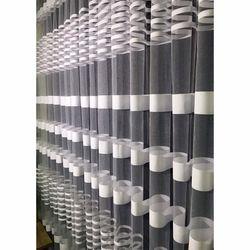 Brillant Beyaz Zebra Tül Perde 1/3 Pile 190x190 cm