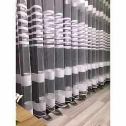 Brillant Beyaz Zebra Tül Perde 1/3 Pile 210x190 cm