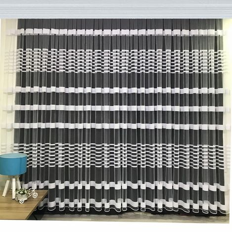 Resim  Brillant Beyaz Zebra Tül Perde 1/2 Pile 520x250 cm