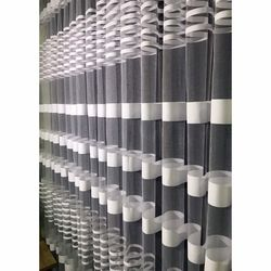 Brillant Beyaz Zebra Tül Perde 1/2 Pile 520x250 cm