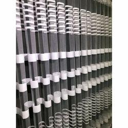 Brillant Beyaz Zebra Tül Perde 1/3 Pile 80x260 cm