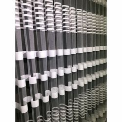 Brillant Beyaz Zebra Tül Perde 1/3 Pile 450x260 cm