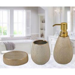 Just Home Simli 3'Lü Banyo Seti - Gold