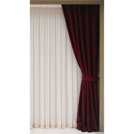 Premier Home Alia Blackout Fon Perde (Bordo) - 140x270 cm