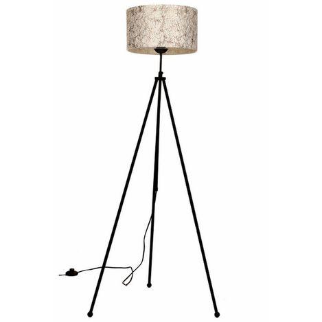 Resim  Safir Light Mio Lambader Metal Kahve Örgü Desen