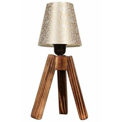Safir Light Fio Abajur Ahşap Altın Motif Şapka
