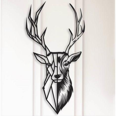 Resim  Modacanvas Dekoratif Geyik Metal Tablo