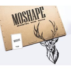 Modacanvas Dekoratif Geyik Metal Tablo