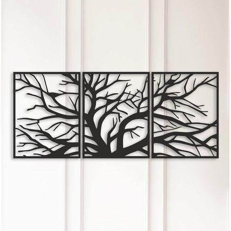 Modacanvas Geometrik Ağaç Metal Tablo