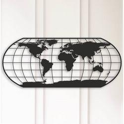 Modacanvas Dünya Haritası Metal Tablo