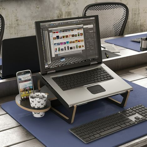 House Line Zoed Laptop Stand - Siyah