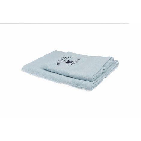 Resim  Beverly Hills Polo Club Polo Havlu Seti (50x100+40x60) Hand&Wash Logo Nakışlı AçıkMavi