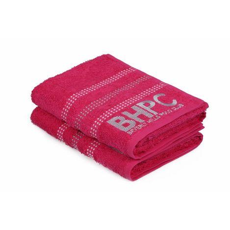 Resim  Beverly Hills Polo Club Polo Havlu Seti 50x90cm (2) Hand&Towel Botanik Fuşya