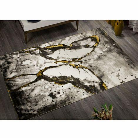 Resim  Payidar Gold HE17 Gri 80x150 cm Kelebekli Desen Modern Halı
