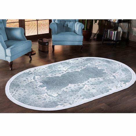 Resim  Payidar Zengi HA93 Oval Saçaklı Halı (Mavi) - 150x233 cm