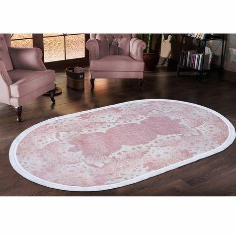 Resim  Payidar Zengi HA93 Oval Saçaklı Halı (Pudra) - 150x233 cm
