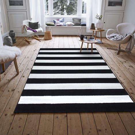 Resim  Payidar Roya FB45 Modern Halı (Siyah/Beyaz) - 150x233 cm